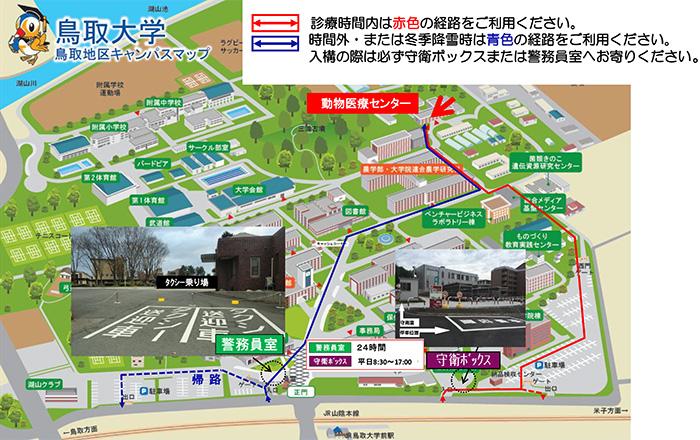 大学内の地図